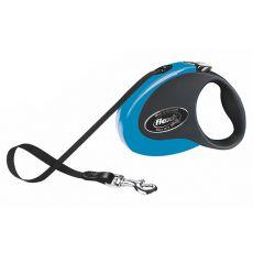 Flexi Collection M póráz 25 kg-ig, 5m szalag - fekete-kék
