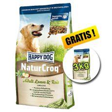 Happy Dog NaturCroq LAMM a REIS 15 kg + 3kg INGYEN