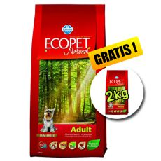 Farmina MO P ECOPET N dog ADULT MINI 12 kg + 2 kg INGYEN