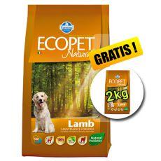 Farmina MO P ECOPET N dog LAMB MEDIUM 12 kg + 2 kg ajándék