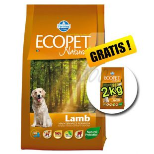 Farmina MO P ECOPET N dog LAMB MEDIUM 12 kg + 2 kg INGYEN