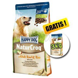 Happy Dog NaturCroq RIND és REIS 15 + 3 kg INGYEN