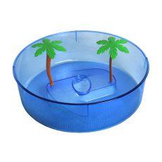 Teknős terrárium, műanyag - kék színű, kör alakú 24,5 cm