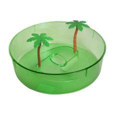 Teknős terrárium, műanyag - zöld színű, kör alakú 24,5 cm