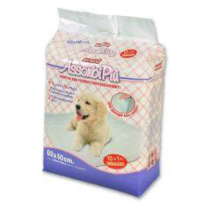 Helyhez szoktató pelenka  kutyáknak - 60 x 60 cm, 10+1 ajándék