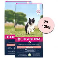 EUKANUBA Senior Small & Medium Breed Lamb 2 x 12 kg