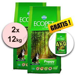 Farmina MO P ECOPET N dog PUPPY MAXI 2 x 12 kg + 4 kg INGYEN