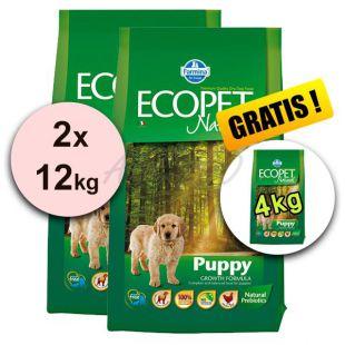 Farmina MO P ECOPET N dog PUPPY MEDIUM 2 x 12kg + 4kg INGYEN