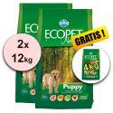 Farmina MO P ECOPET N dog PUPPY mini 2 x 12 kg + 4kg INGYEN