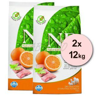 Farmina N&D dog GF ADULT Fish & Orange 2 x 12 kg