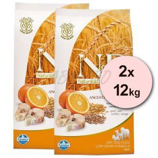 Farmina N&D dog LG ADULT MAXI Codfish & Orange 2 x 12 kg