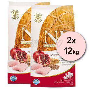 Farmina N&D dog LG ADULT MINI Chicken & Pomegranate 2 x 12 kg