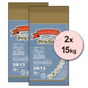 Frank´s Pro Gold Fish and Rice 24/13 zöldséggel  - 2 x 15kg