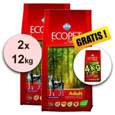 Farmina MO P ECOPET N dog ADULT MAXI 2 x 12 kg + 4 kg ajándék