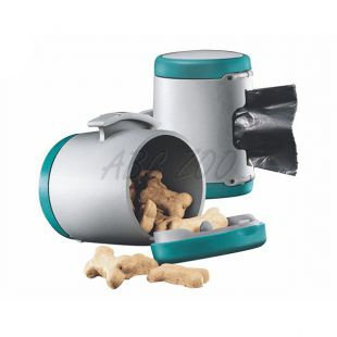 Flexi Vario Multi Box tároló, türkizkék + hulladékzsákok