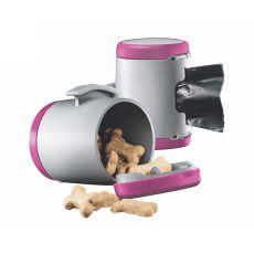 Flexi Vario Multi Box tároló, rózsaszín + hulladékzsákok