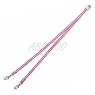 Flexi Vario Duo Belt S - páros póráz két kutyának, rózsaszín