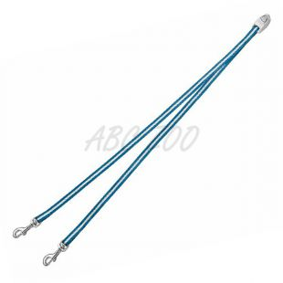 Flexi Vario Duo Belt S - páros póráz két kutyának, kék