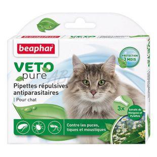 Cseppek rovarok ellen macskáknak, természetes - 3 db
