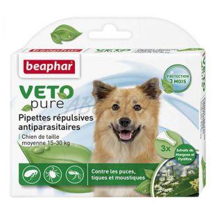 Cseppek rovarok ellen közepes testű kutyáknak, természetes - 3 db