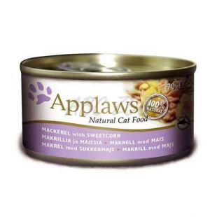 Applaws Cat - konzerv macskáknak makrélával és kukoricával, 70g