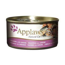 Applaws Cat - konzerv macskáknak makrélával és szardíniával, 70g