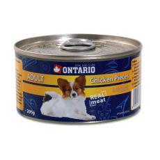 ONTARIO Adult kutyakonzerv, csirke darabok + nugettek 200g