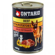 ONTARIO kutyakonzerv, marha, burgonya és olaj - 400g
