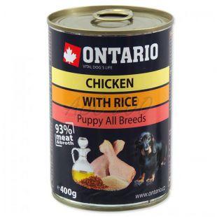 ONTARIO Puppy kutyakonzerv, csirke, rizs és olaj - 400g