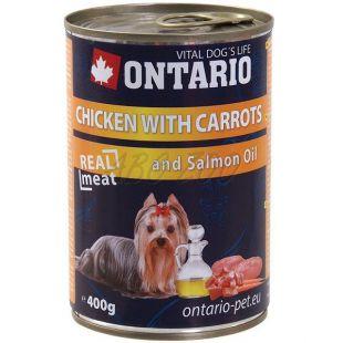 ONTARIO kutyakonzerv, csirke, sárgarépa és olaj - 400g
