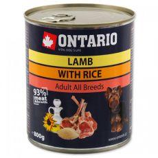ONTARIO kutyakonzerv, bárány, rizs és olaj - 800g