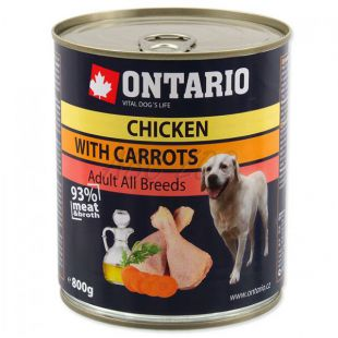 ONTARIO kutyakonzerv, csirke, sárgarépa és olaj - 800g