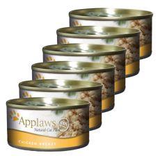 Applaws Cat - konzerv macskáknak csirkemellel, 6 x 70g