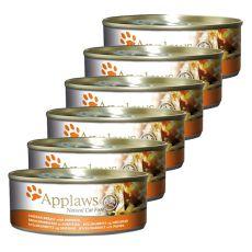Applaws Cat - konzerv macskáknak csirkével és tökkel, 6 x 70g