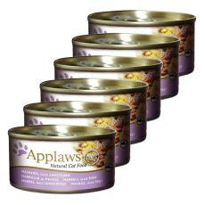 Applaws Cat - konzerv macskáknak makrélával és kukoricával, 6 x 70g
