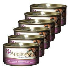 Applaws Cat - konzerv macskáknak makrélával és szardíniával, 6 x 70g