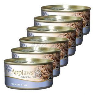 Applaws Cat - konzerv macskáknak tengeri halakkal, 6 x 70g