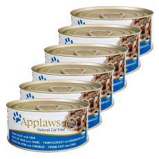Applaws Cat - konzerv macskáknak tonhallal és rákkal, 6 x 70g
