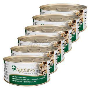 Applaws Cat - konzerv macskáknak tonhallal és tengeri moszattal, 6 x 70g