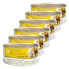 Applaws Cat Jelly - konzerv macskáknak csirkével és mangóval, 6 x 70g