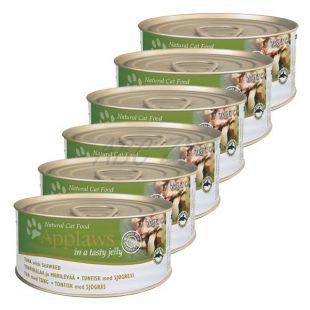 Applaws Cat Jelly - konzerv macskáknak tonhallal és tengeri moszattal, 6 x 70g