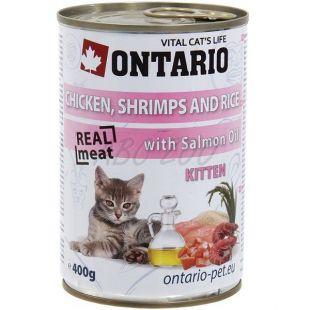 ONTARIO Kitten Konzerv - csirke, rák, rizs és olaj - 400 g