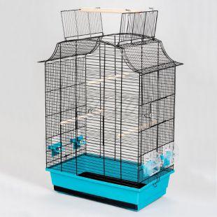 Papagájkalitka GRETA CABRIO fekete - 49 x 30 x 65 cm