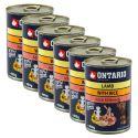 ONTARIO kutyakonzerv, bárány, rizs és olaj - 6x400g