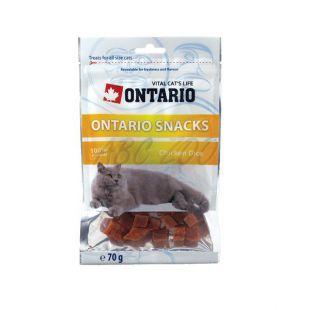 ONTARIO jutalomfalat macsáknak - csirkehús kockák, 70g