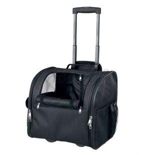 Kerekes táska kutya vagy macska szállítására, Fero - fekete, 36x28x37 cm