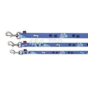 Kutyapóráz, kék színű, mintás, M/L - 1m