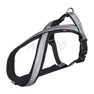 Kutyahám, fényvisszaverős, szürkés-fekete S/M, 40-60 cm