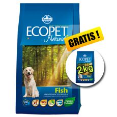 Farmina MO P ECOPET N dog FISH MEDIUM 12 kg + 2 kg ajándék