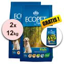Farmina MO P ECOPET N dog FISH MEDIUM 2 x 12 kg + 4 kg ajándék